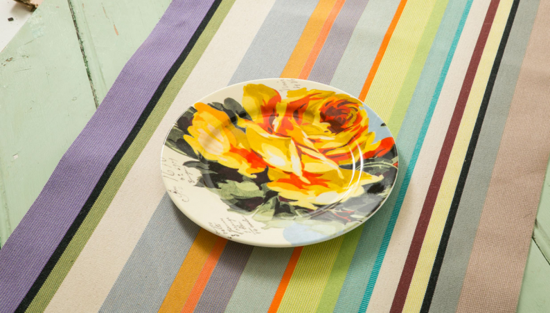 Yellow Rose Side Plate