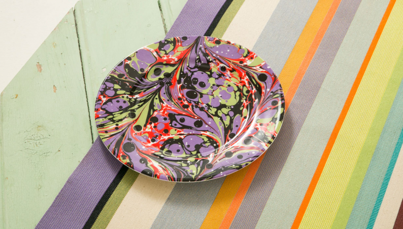 Purple Marbled Side Plate