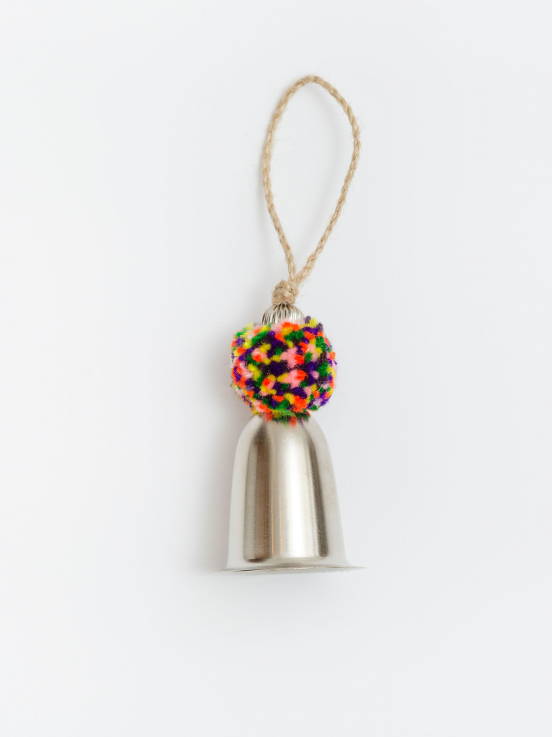 Bell With Multicoloured Pom Pom