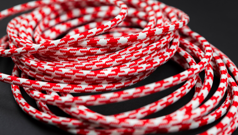 Braided Flex Red & White