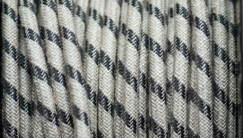 Braided Flex Jute & Grey Stripe