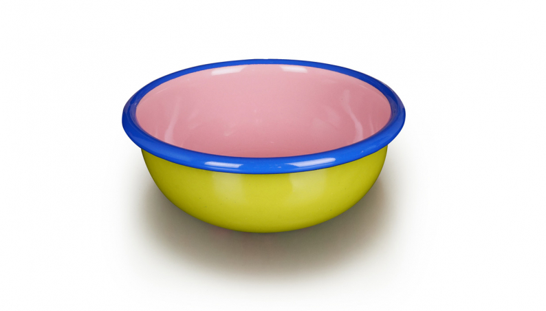 Round Bowl Lime Pink