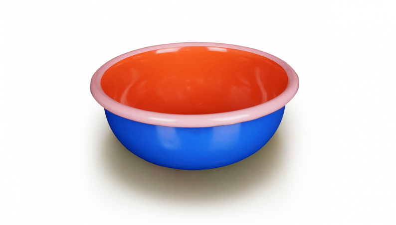 Round Bowl Blue Coral