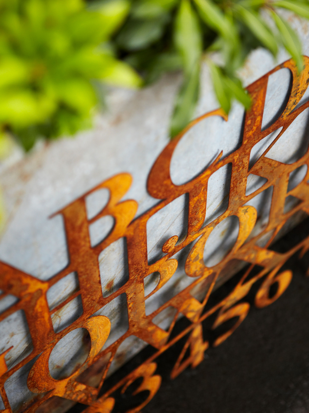 Rusty Alphabet Sign