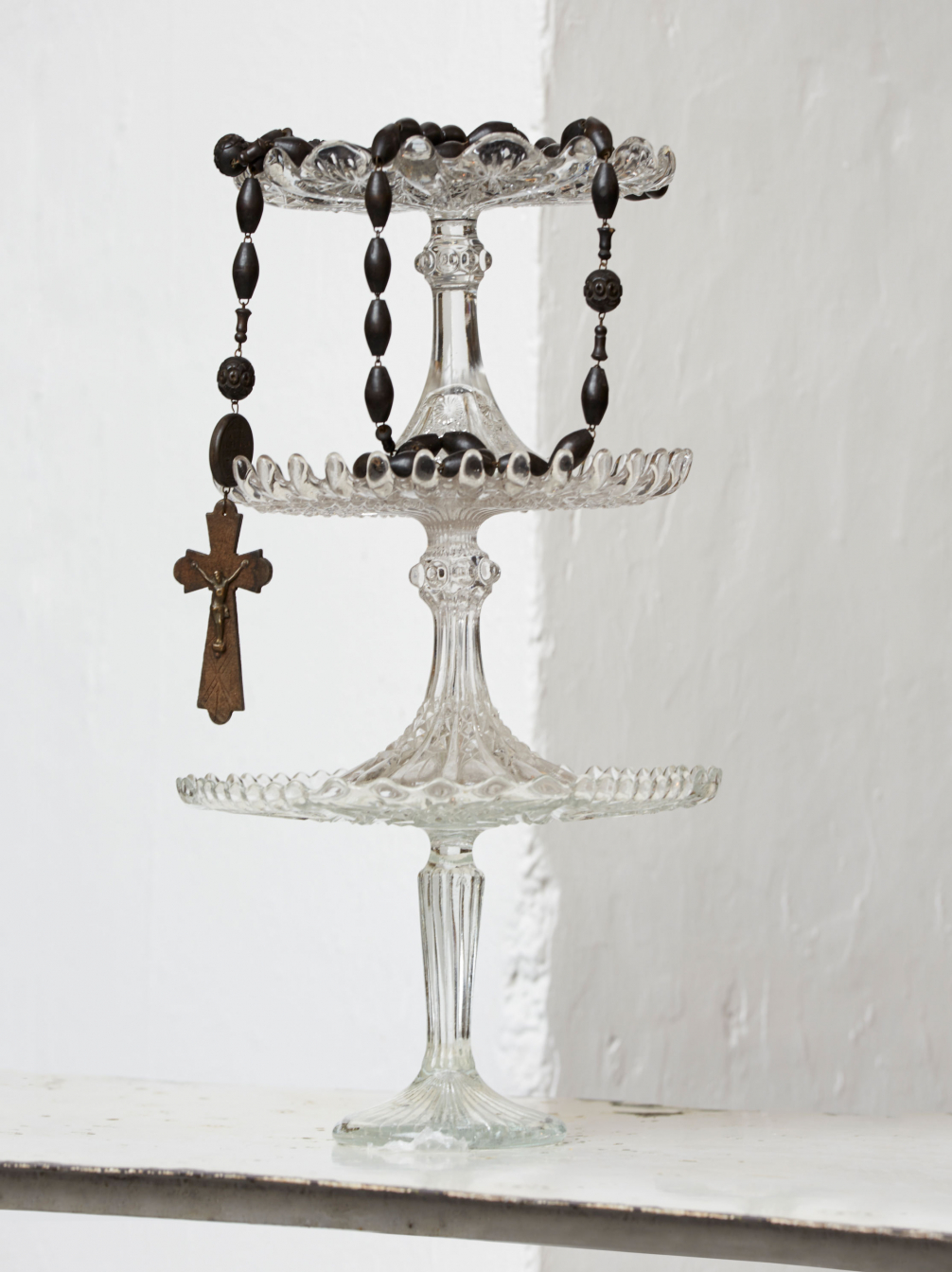 Old Glass Cake Stands
