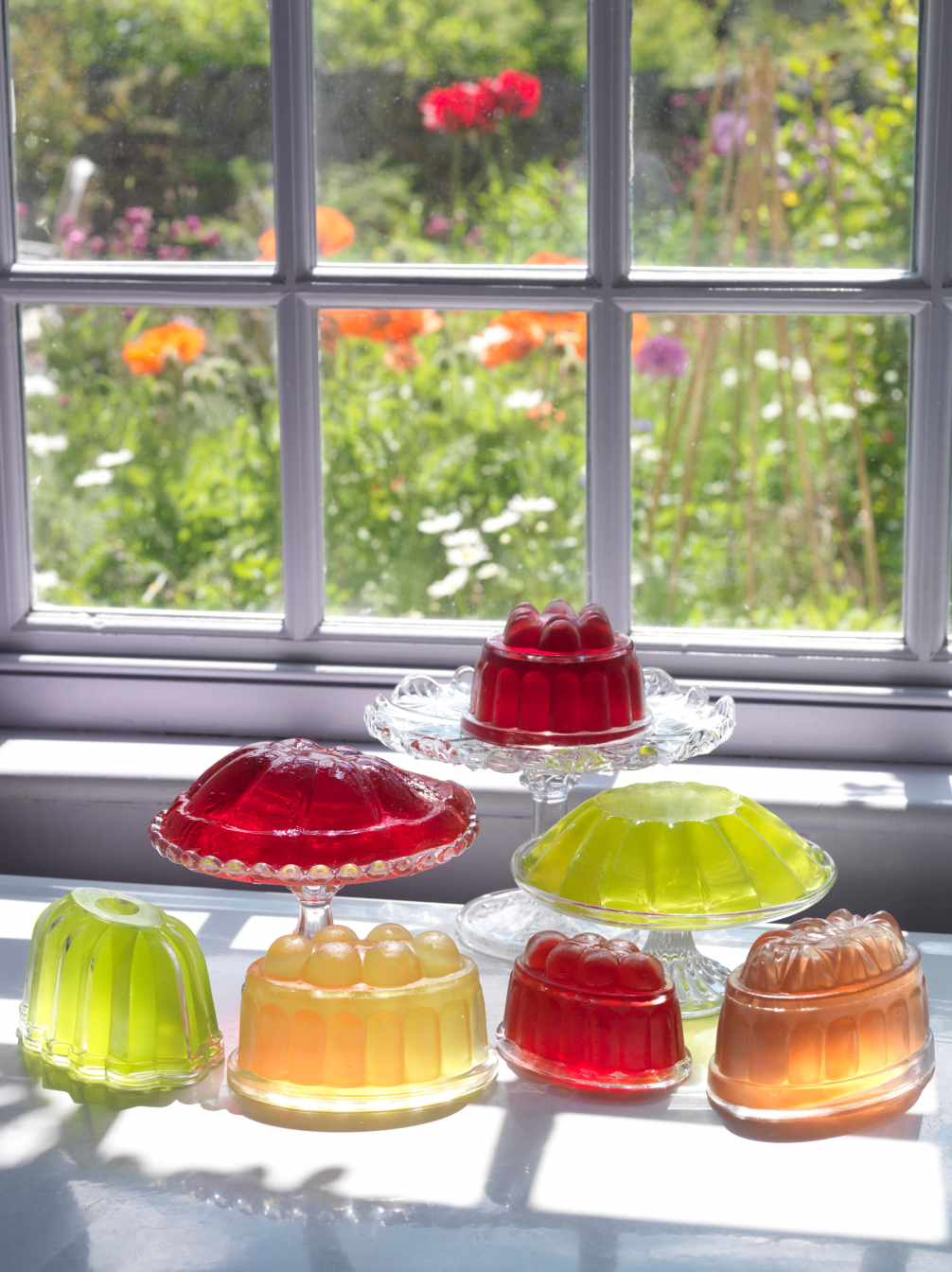 Old Glass Jelly Moulds