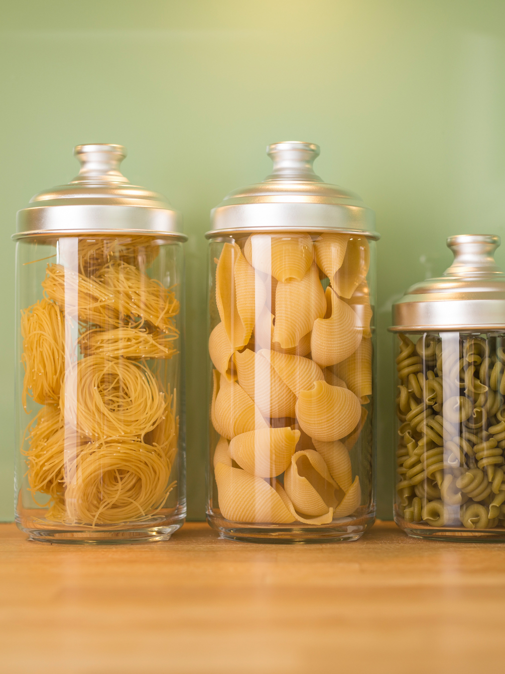 Italian Glass Storage Jars