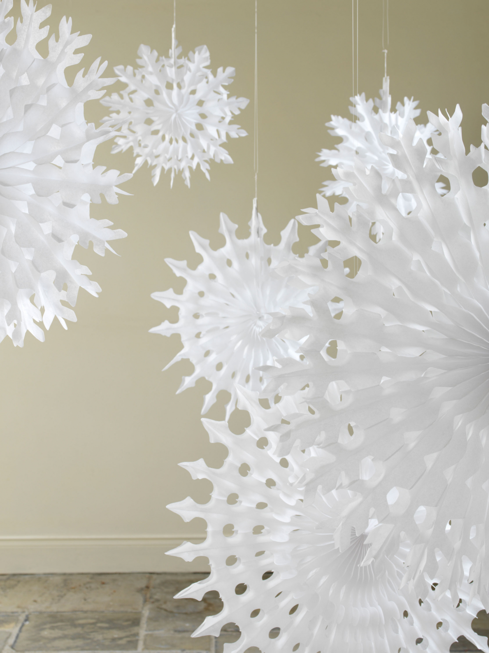 All White Paper Decorations