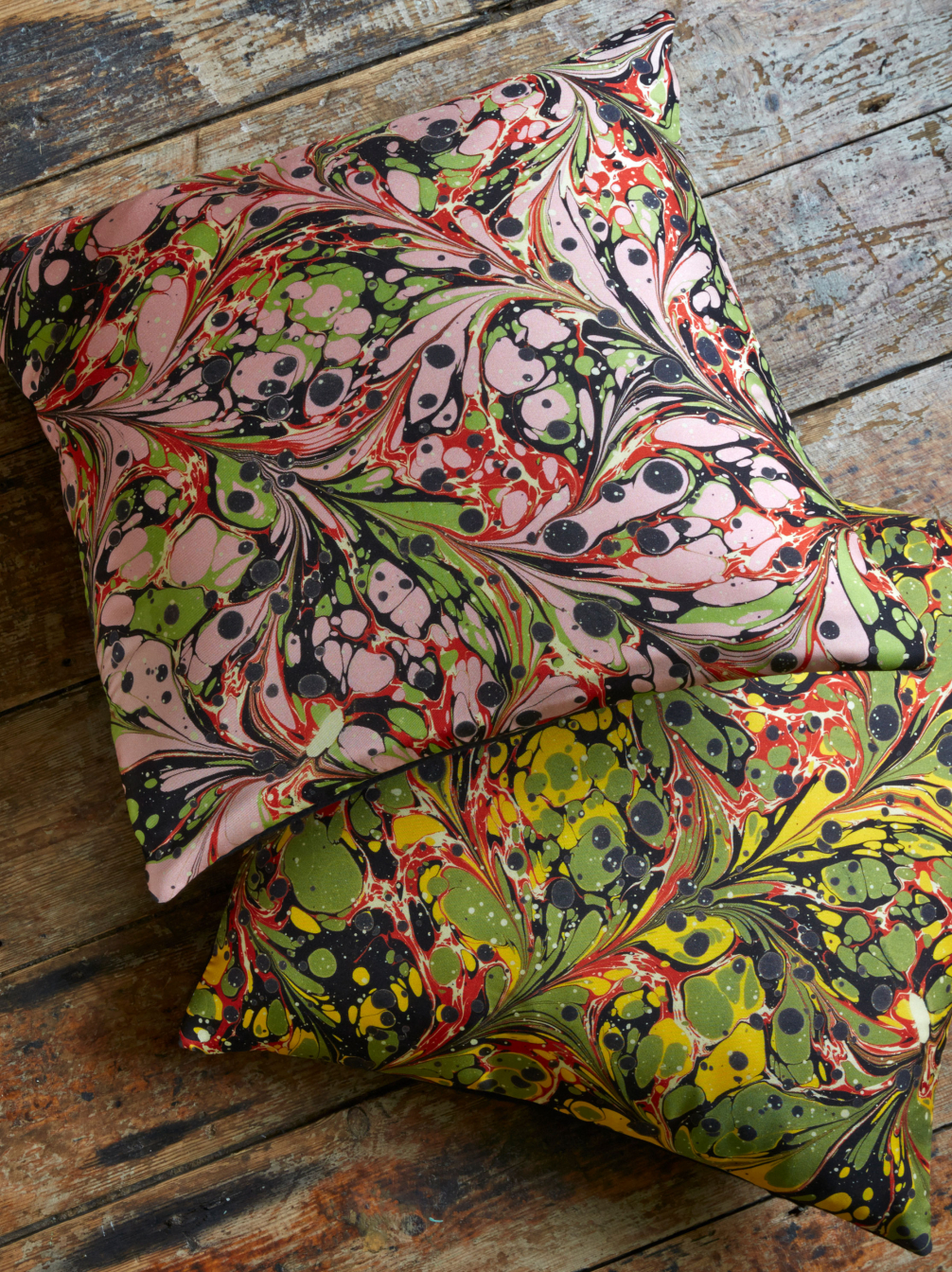 Marbled Silk Cushion