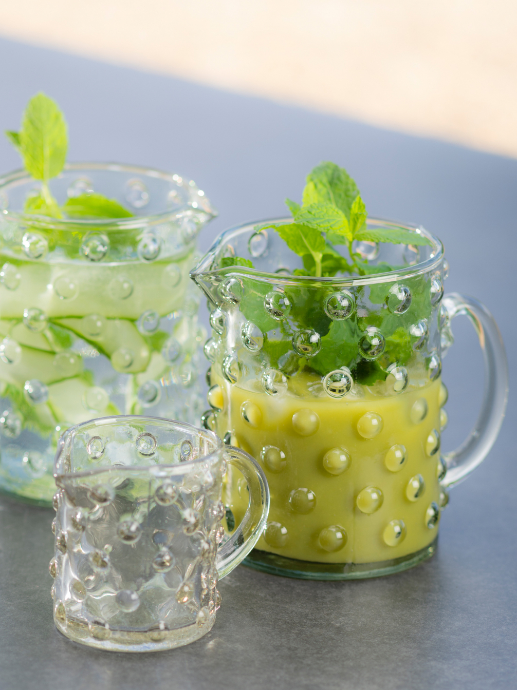 Glass Spotty Jugs
