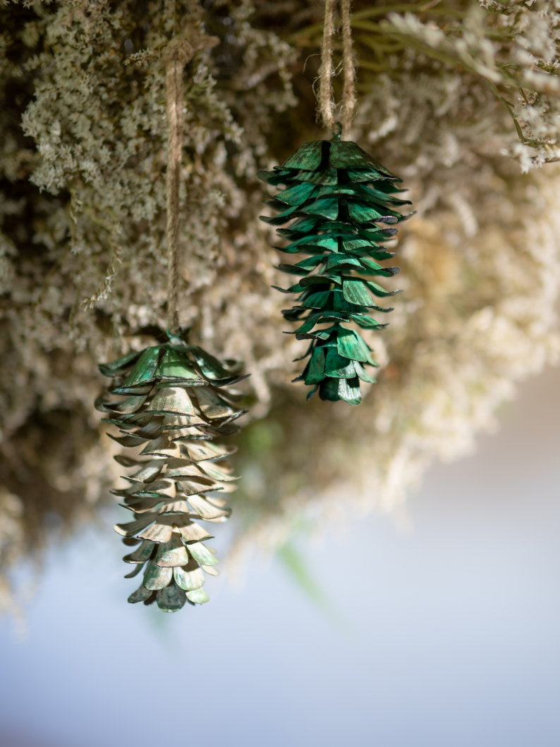 Metal Pinecones