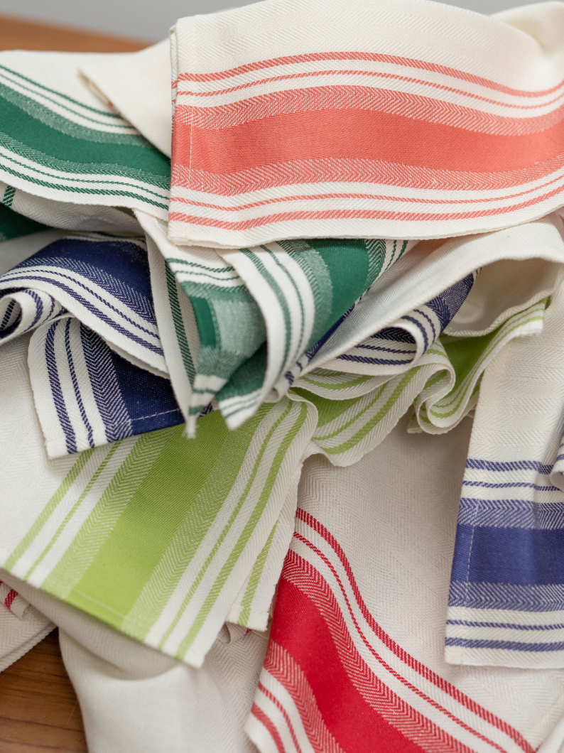 Italian Stripe Linen Blend Tea Towels