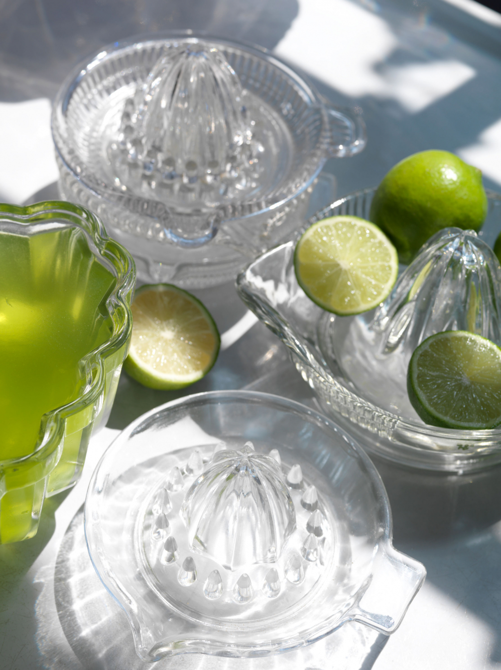 Old Glass Lemon Squeezers