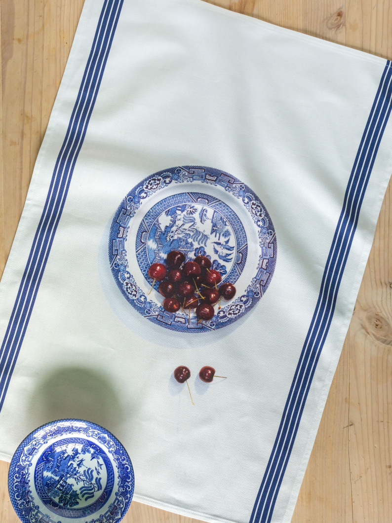 Bowl Of Cherries Tea Towel