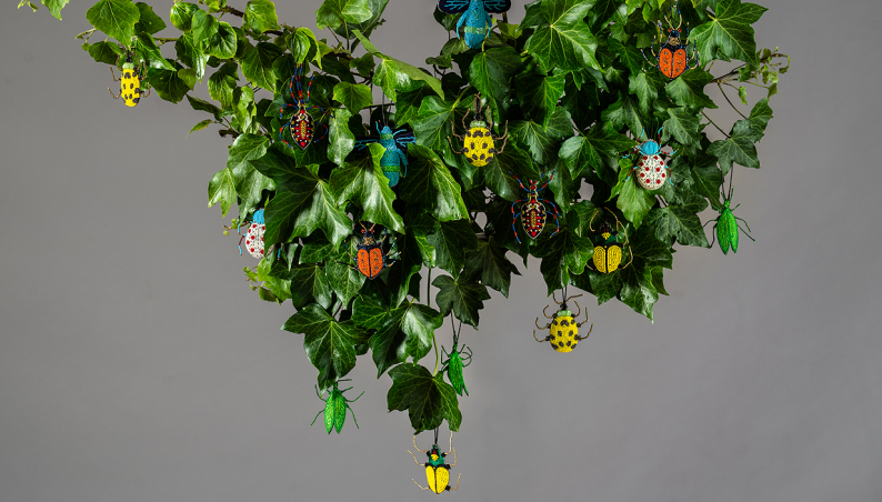 Hanging Beaded Beetles