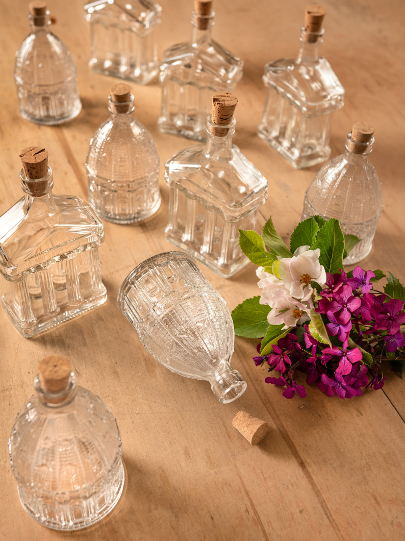 Italian Glass Building Bottles