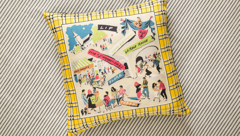 Parisian Cafes Cushion