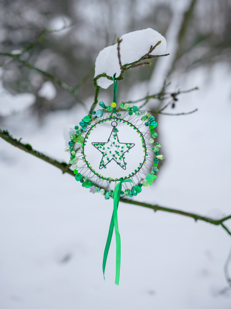 Charmed Green Ring With Star