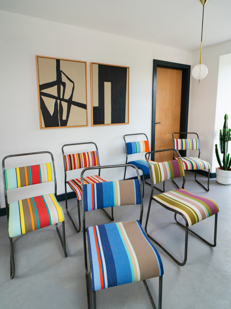 Metal Stripe Chairs