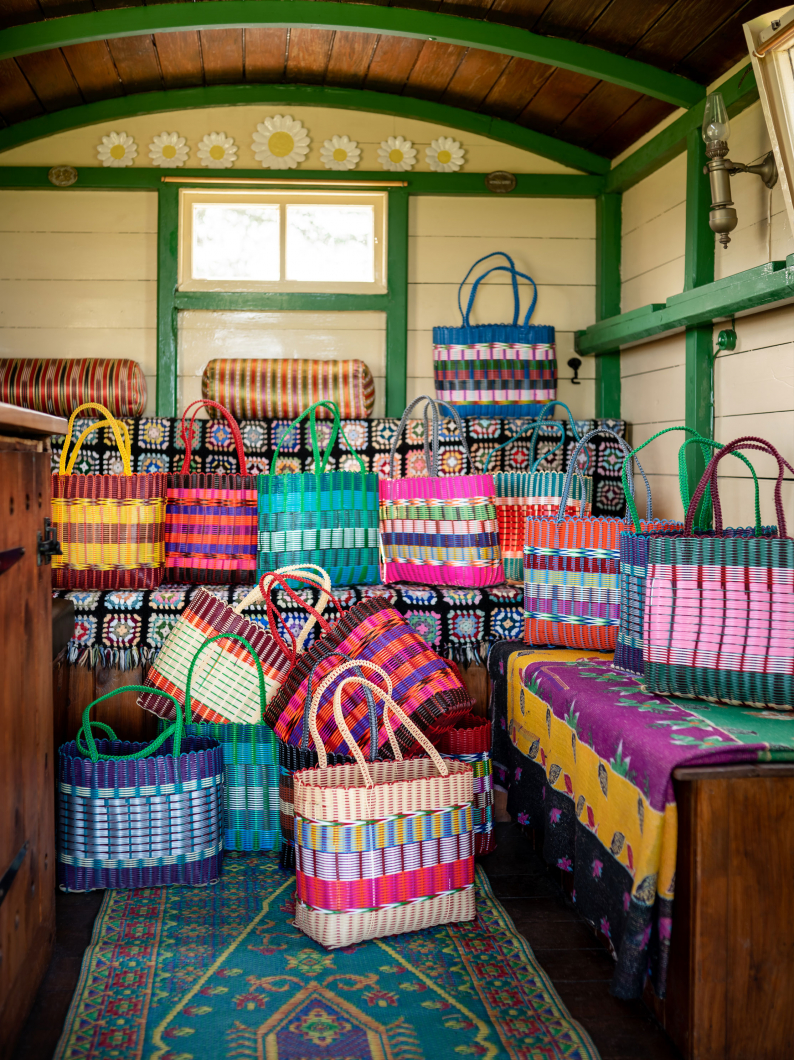 Fairtrade Large Woven Plastic Baskets