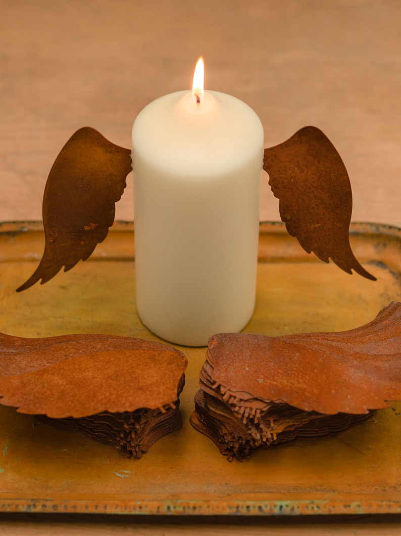 Rusty Metal Candle Wings