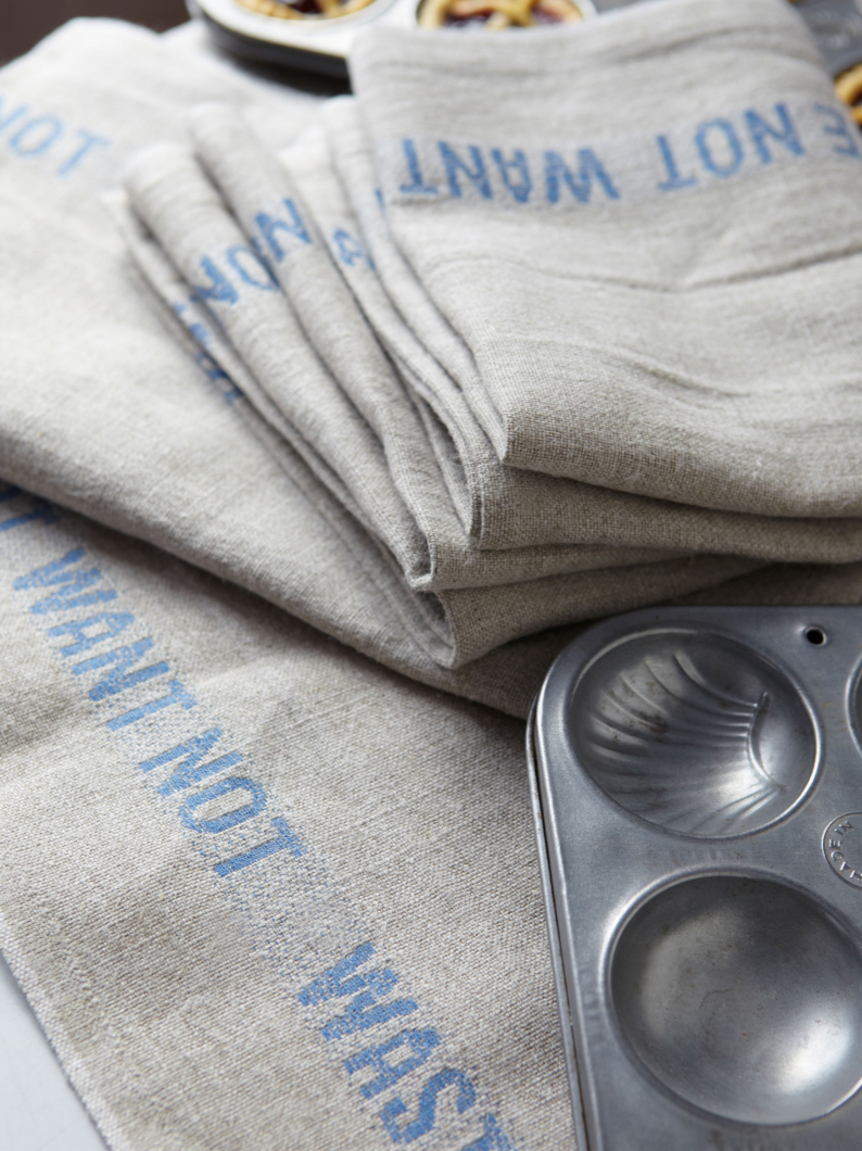 Linen Waste Not Tea Towel