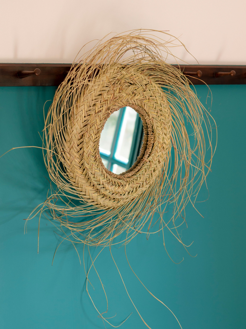Esparto Grass Mirror