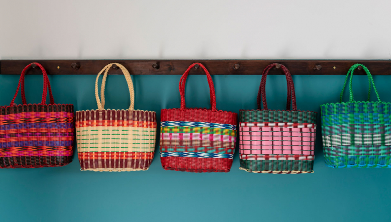Fairtrade Small Woven Plastic Baskets