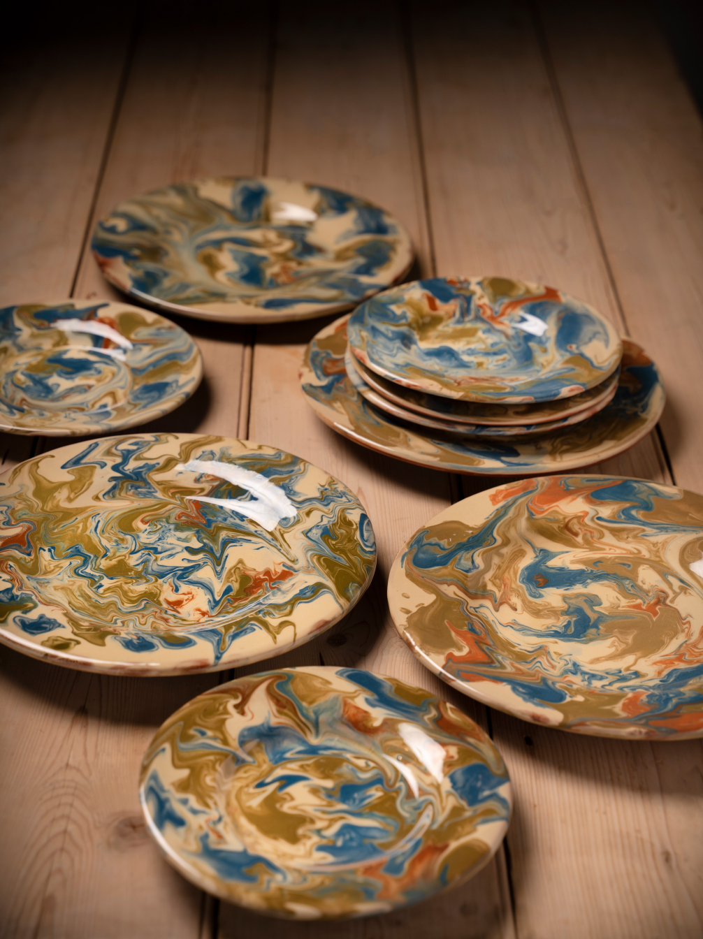Handmade Marbled Pottery