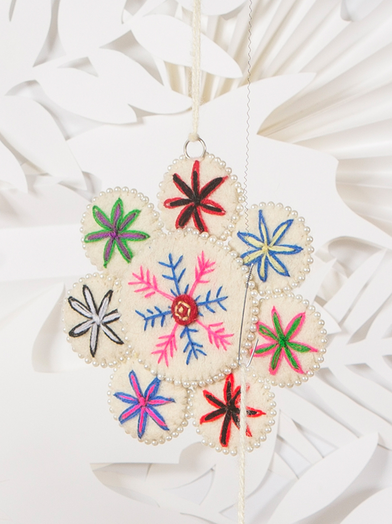 REduced Felt Flower Decoration