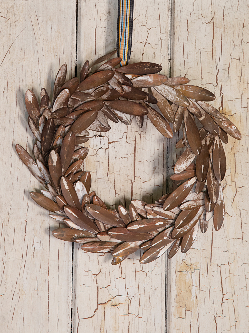Metal Olive Wreath