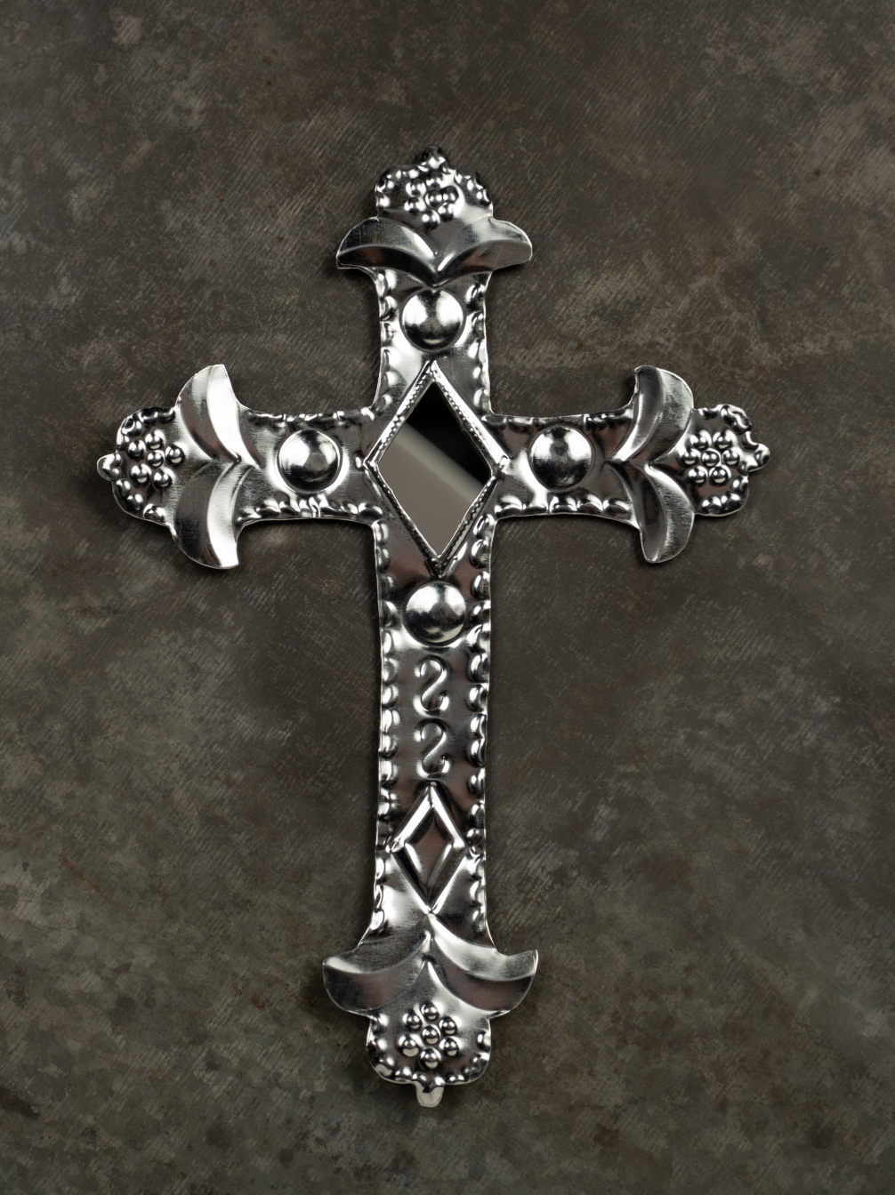 Mirrored Metal Cross