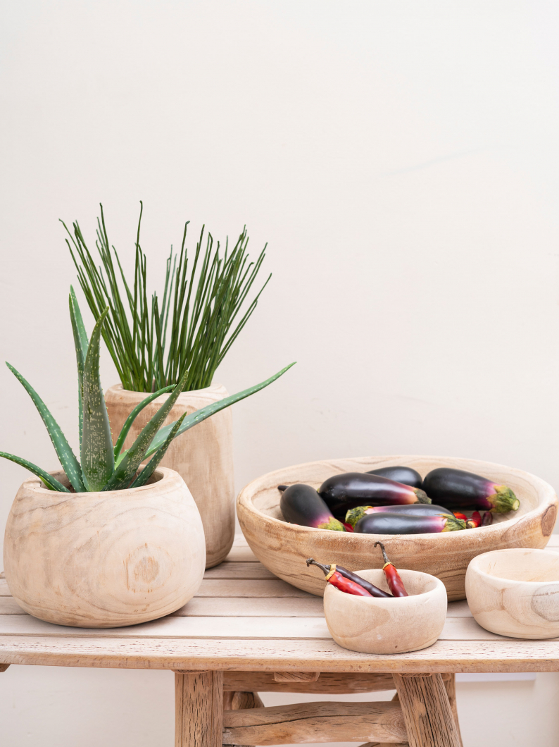 Raw Wooden Bowls