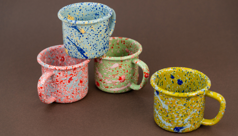 Speckled Enamelware Mugs