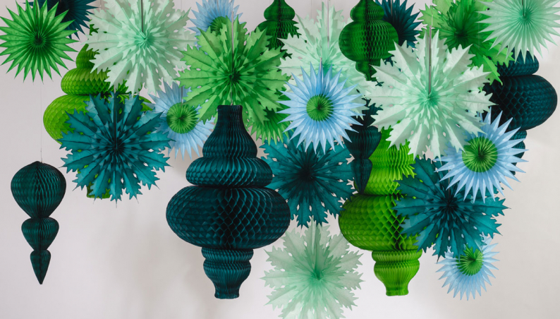 Evergreen Paper Decorations