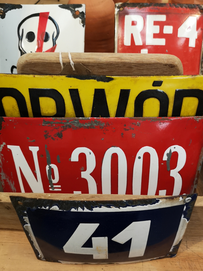 Old European Enamel Signs