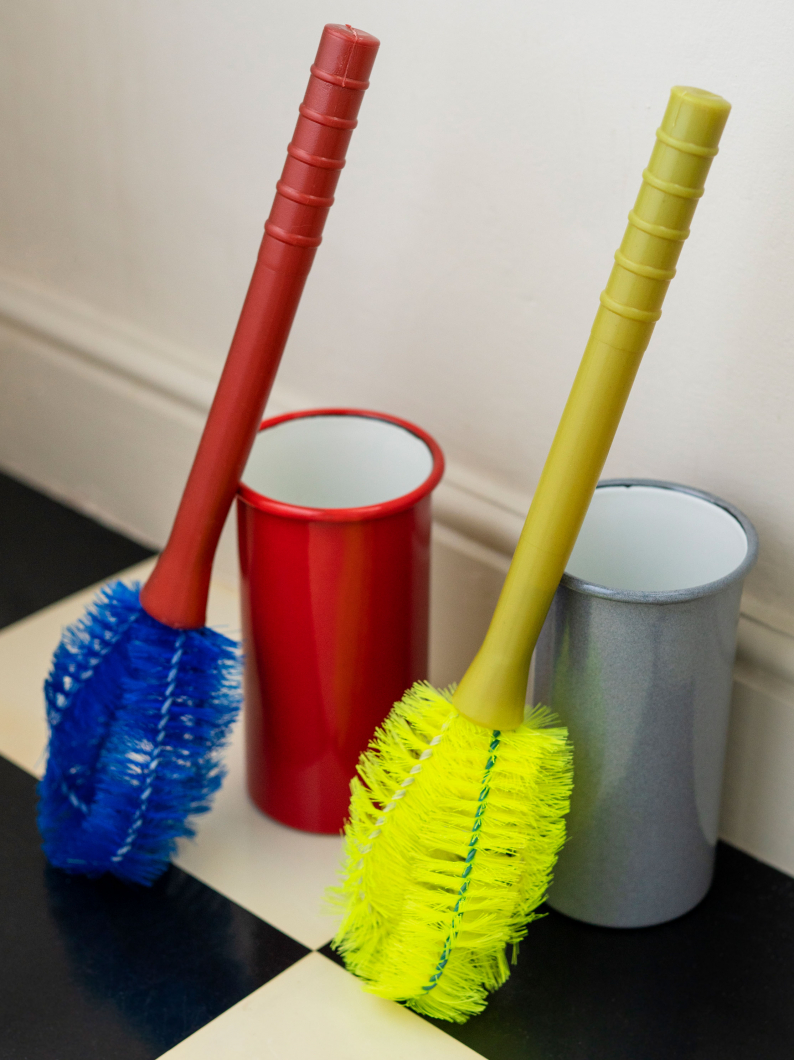 Toilet Brush & Enamel Container