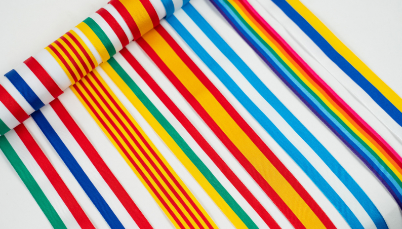 Wide Flag Stripe Ribbon