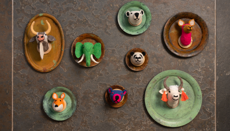 Magnetic Felt Animal Heads