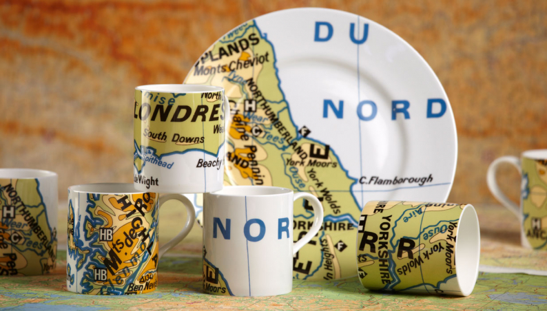 Bone China British Isles Mugs