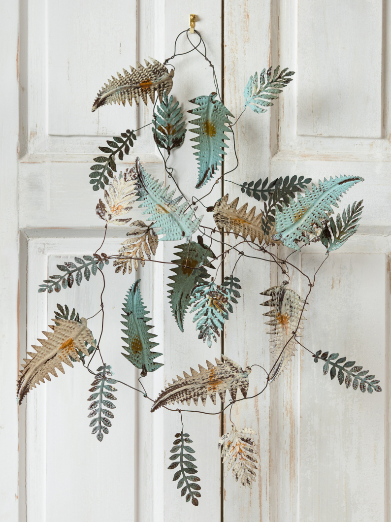 Wire Leaf Garland
