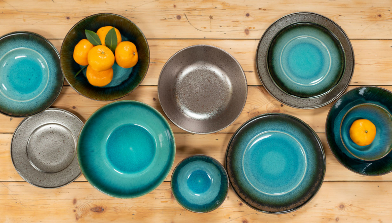 Iridescent & Teal Pottery