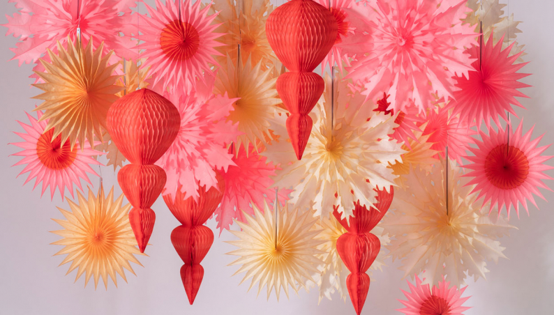 Peaches & Cream Paper Decorations