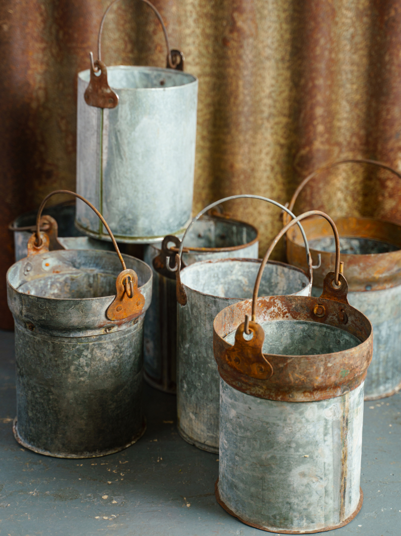 Galvanised Treasure Buckets