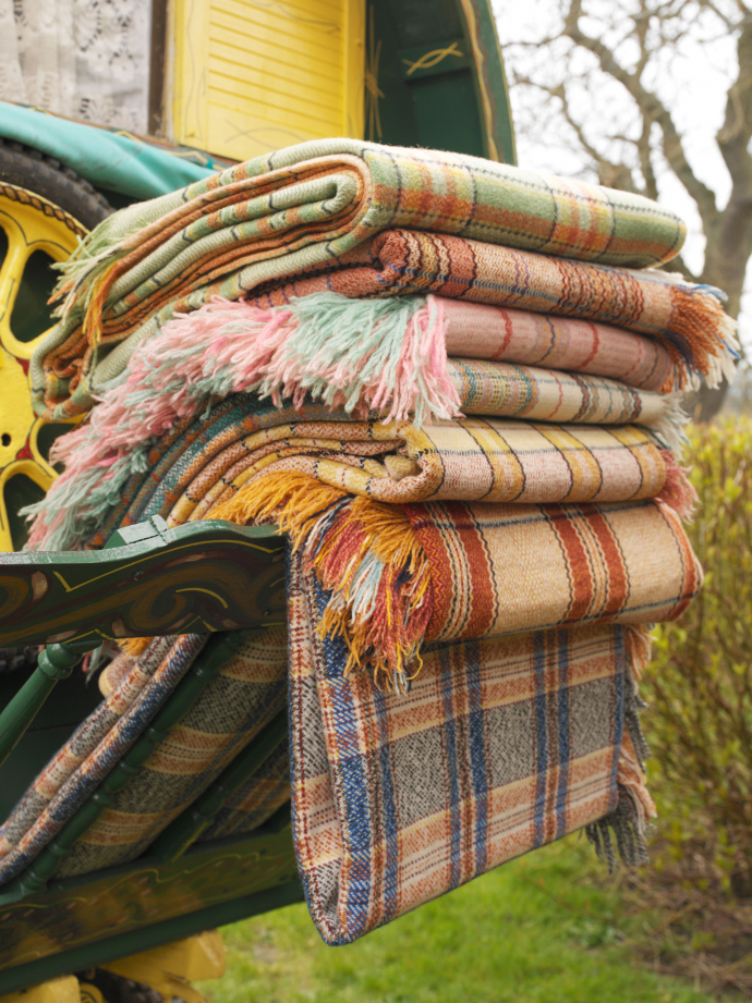 Old Welsh Check Blankets