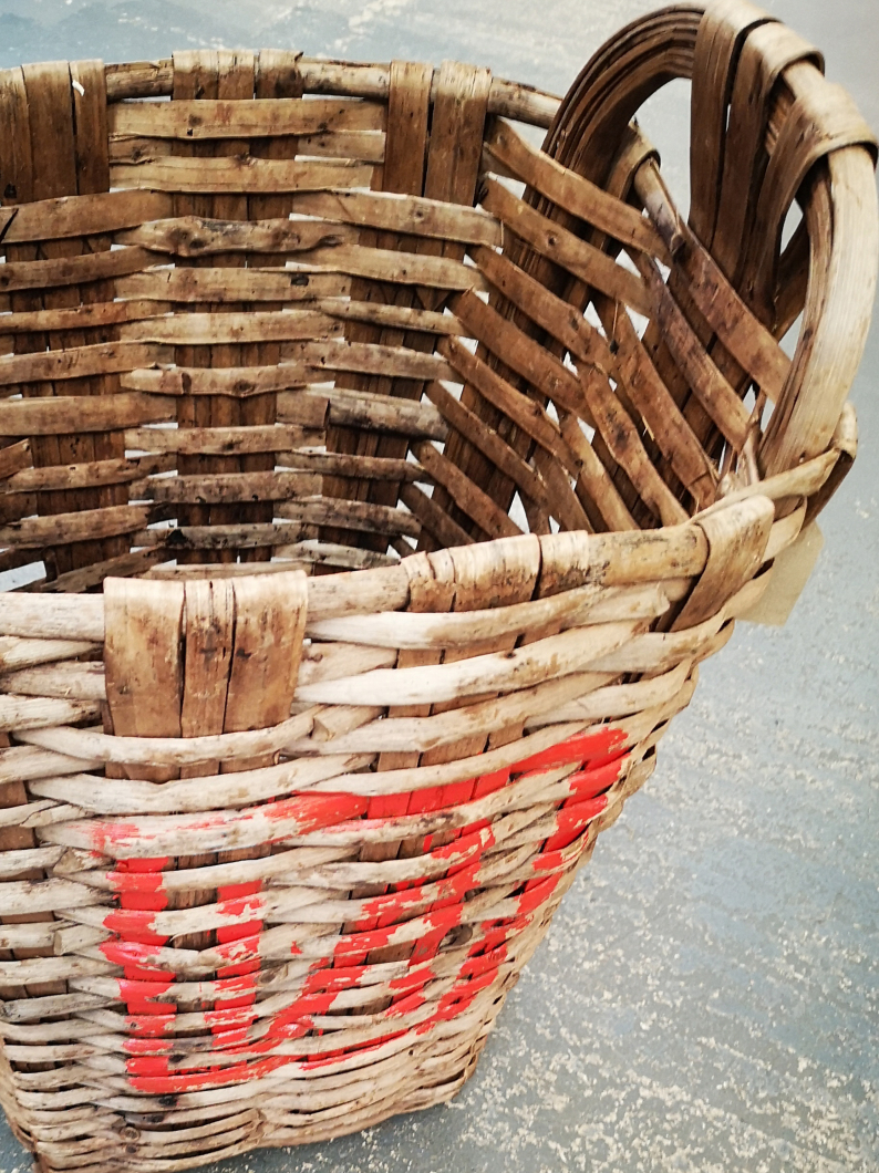 Old French Grape Baskets