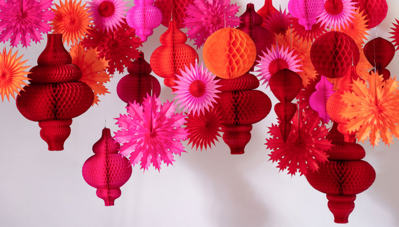 Red Hot Paper Decorations